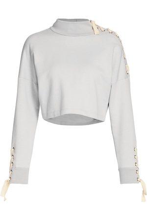 Jonathan Simkhai Standard Women's Lace-Up Sweatshirt - - Size Small