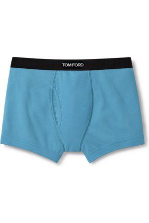 Tom Ford Men's Stretch-Cotton Logo Boxer Briefs - - Size Large