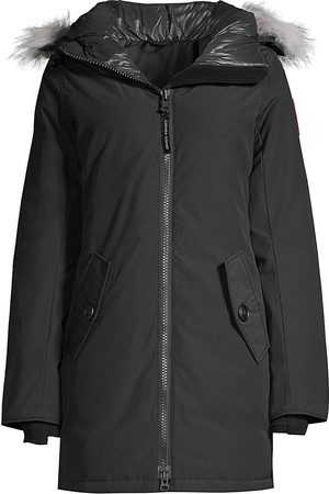 Canada Goose Women's Rosemont Coyote Fur-Trim Down Parka - - Size Small
