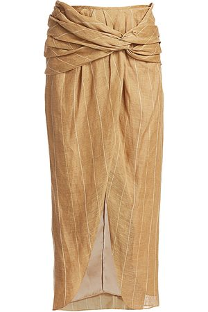 JOHANNA ORTIZ Women's Wrapped Slit Midi Skirt - - Size 4