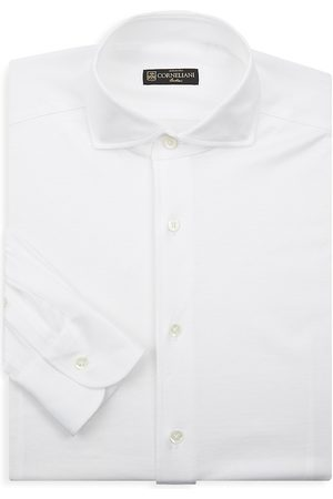 corneliani Men's Casual Cotton Dress Shirt - - Size 44 (17.5) R