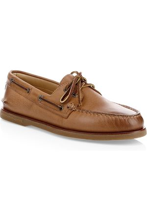 Sperry Men's Gold Cup Authentic Original Burnished Leather Boat Shoes - - Size 14 M