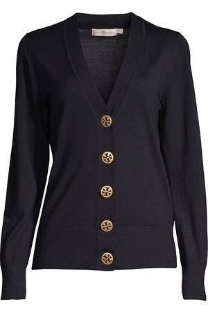 Tory Burch Women's Merino Wool Button-Up Cardigan - - Size XS