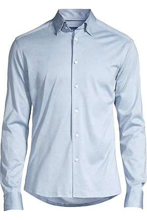 Eton Men's Soft Casual Slim-Fit Jersey Knit Sport Shirt - - Size XXL