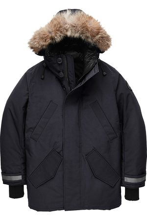 Canada Goose Men's Edgewood Coyote Fur-Trim Down Parka - - Size XXL