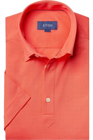 Eton Men's Short-Sleeve Pique Button-Front Shirt - - Size XXL