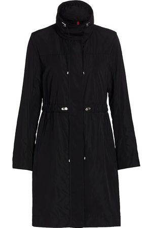 Moncler Women's Malachite Long Rain Coat - - Size 5 (XXL)