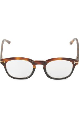 Tom Ford Men's 49MM Square Blue Block Optical Glasses