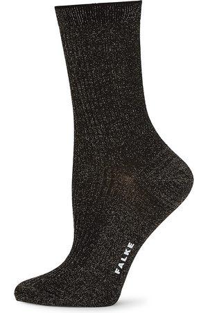Falke Women's Shiny Ribbed Socks - - Size Small-Medium
