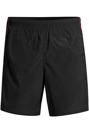 Alexander McQueen Men Swim Shorts - Selvedge Logo Swim Shorts