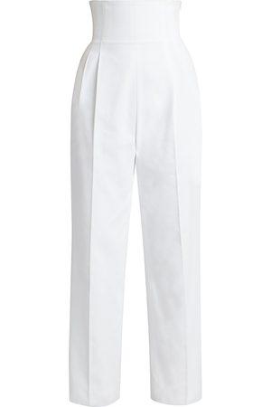 Alaïa Women's High-Waist Corset Pants - - Size 40 (8)