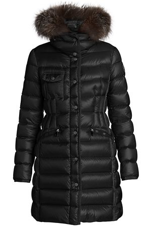Moncler Women's Hermifur Fox Fur-Trim Quilted Down Parka - - Size 5 (XXL)