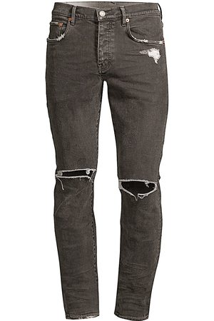 Purple Brand Men's P001 Slim Fit Coated Ripped Jeans - - Size 34