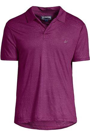 Vilebrequin Men's Pyramid Linen Polo Shirt - - Size XXXL