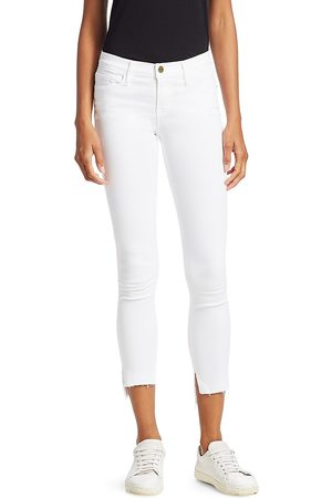 Frame Women's Stretch-Cotton Mid-Rise Ankle Skinny Jeans - - Size 32 (10-12)