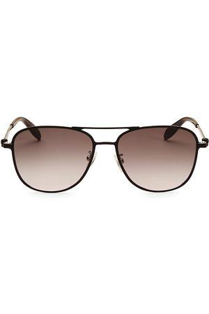 Alexander McQueen Men's 56MM Aviator Sunglasses