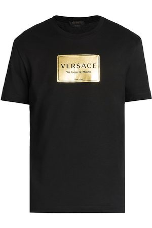 VERSACE Men's Taylor-Fit Graphic T-Shirt - - Size XS