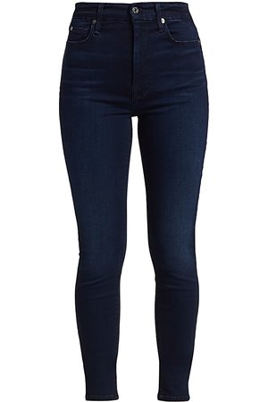 7 for all Mankind Women's High-Rise Ankle Skinny Jeans - - Size 30 (8-10)