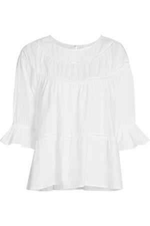Merlette Women's Sol Ruffle Cuff Top - - Size XL