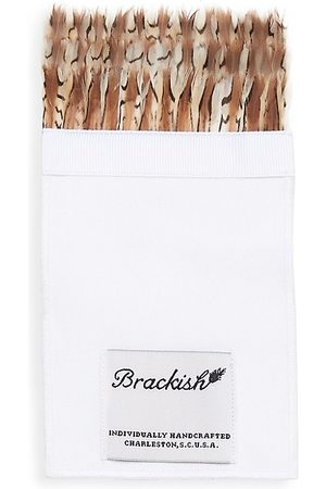 Brackish Men's Bevy Grosgrain & Quail Feather Pocket Square
