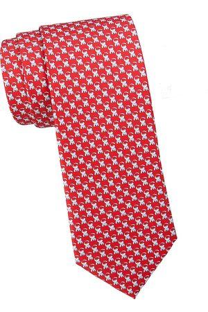 Salvatore Ferragamo Men's Elephant-Print Silk Tie