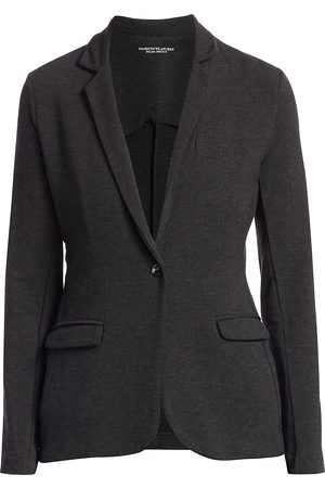 Majestic Women's French Terry Single-Button Blazer - - Size 4 (Large)
