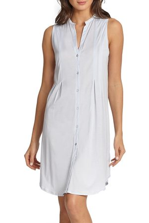 Hanro Women Tank Tops - Women's Cotton Deluxe Button-Front Tank Gown - - Size XL