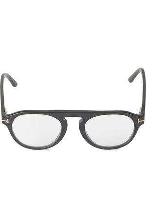 Tom Ford Men's 49MM Round Block Optical Glasses