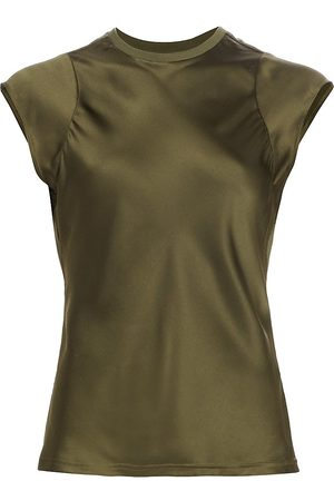 Frame Women's Bias Muscle Silk Top - - Size Large