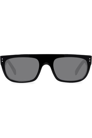 Céline Men's 56MM Futuristic Mirrored Sunglasses