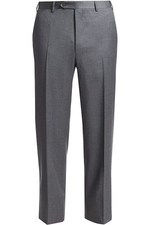 CANALI Men's Regular-Fit Wool Pants - - Size 48 (32)