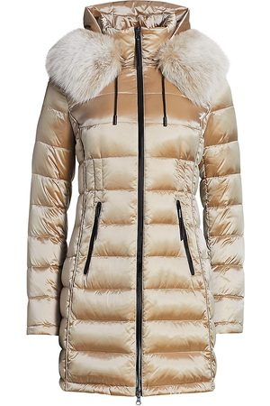 The Fur Salon Women Parkas - Women's Fox Fur-Trim Hooded Down Parka - - Size Small