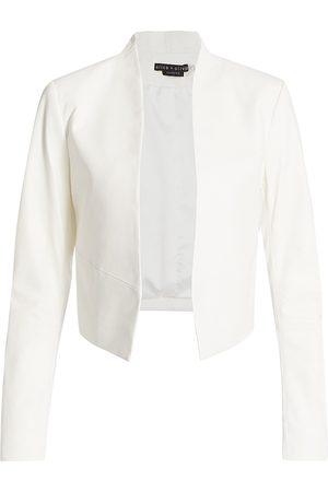 ALICE+OLIVIA Women's Harvey Open Leather Jacket - - Size Large
