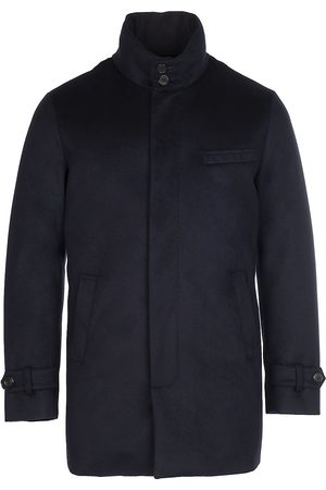 Norwegian Wool Men's Cashmere Down Car Coat - - Size Large
