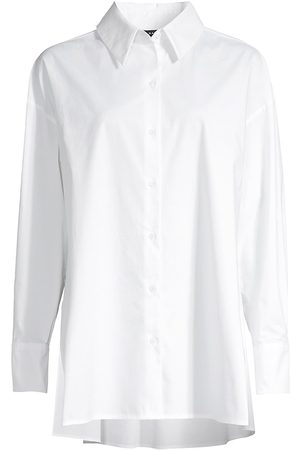 Natori Women Tops - Women's Cotton Poplin Button-Front Top - - Size XS