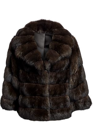 The Fur Salon Women's Chrispeto Sable Fur Jacket - - Size Medium