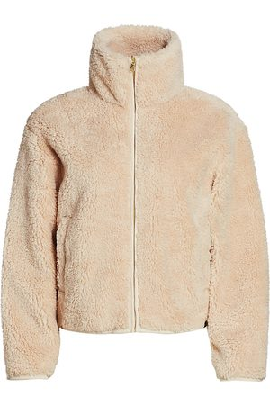 Varley Women's Highwood Faux-Sherpa Cropped Jacket - - Size Small