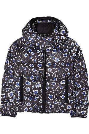 Tory Burch Women's Printed Cropped Down Jacket - - Size XL