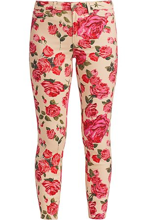 L'Agence Women's Margot High-Rise Ankle Skinny Rose-Print Jeans - - Size 30 (8-10)