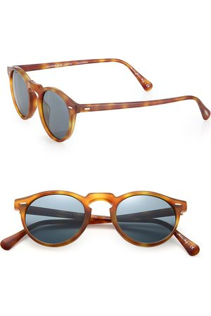 Oliver Peoples Men's Gregory Peck 47MM Round Sunglasses
