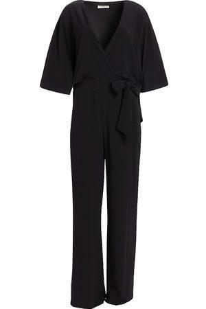 Halston Heritage Women's Blouson Crepe Jumpsuit - - Size 16