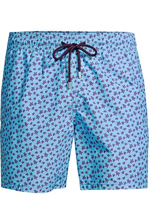 Vilebrequin Men's Moorea Micro Ronde des Tortues Turtles Swim Trunks - - Size XXL