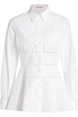 Alaïa Women's Cotton Poplin Peplum Blouse - - Size 40 (8)