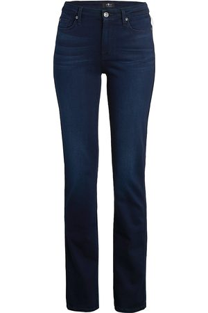 7 for all Mankind Women's Kimmie Mid-Rise Straight Jeans - - Size 31 (10)
