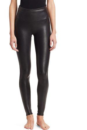 Spanx Women's Faux Leather Leggings - - Size XL