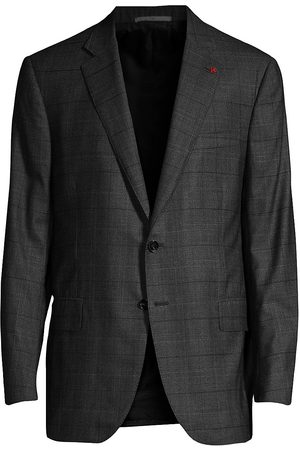 ISAIA Men's Regular-Fit Check Wool Jacket - - Size 54 (44) L