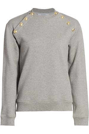 Derek Lam Women's Lucie Button Sweatshirt - - Size Large