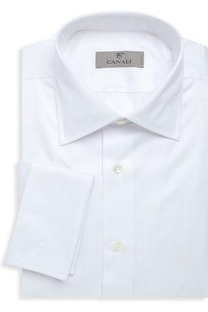CANALI Men's Regular-Fit French Cuff Dress Shirt - - Size 16