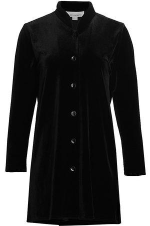 Caroline Rose Women's Stretch Velvet Longline Shirt - - Size XS