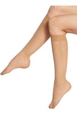 Wolford Women Socks - Women's Individual 10 Sheer Knee Highs - Sand - Size Medium